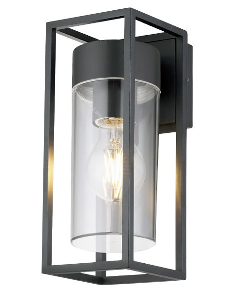 4w Outdoor Modern Rectangular Wall Lantern With Clear Diffuser ZLC079K