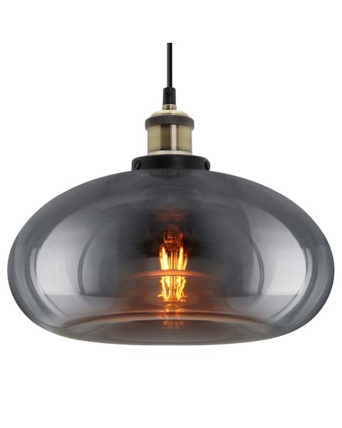 Modern Vintage Smoked Grey Glass Ceiling Pendant Light M0198