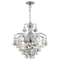 Droplet Fountain Crystal Chandelier Ceiling Pendant Light Reflect Chrome Finish and Real Crystals M0067