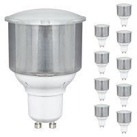 10 x 11w GU10 Energy Saving Light Bulbs CFL
