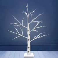 LED Indoor Christmas Tree White 60cm 6000k Light Dual Mains and Battery Operated