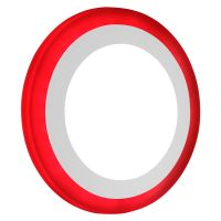 12w Round Recessed LED Ceiling Panel Light Dual Colour Cool White Red Ring