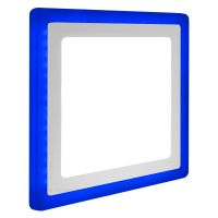 18w + 6w Square Recessed LED Ceiling Panel Light Dual Colour Cool White/Blue