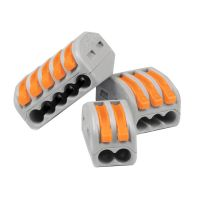 Reusable Spring Electric Terminal Block Cable Wire Connector Clamp 2/3/5 Way