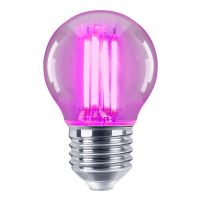 4w LED Golf Ball Purple Light Bulb E27 Clear Glass