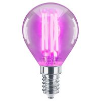 4w LED Golf Ball Purple Light Bulb E14 Clear Glass