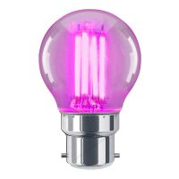 4w LED Golf Ball Purple Light Bulb B22 Clear Glass