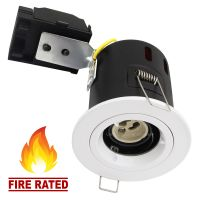 White Fixed Fire Rated Downlight