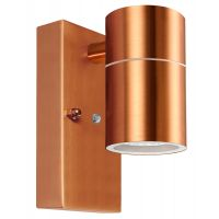 Single Outdoor Wall Light Dusk Till Dawn Sensor Copper Finish IP65 ZLC097CDTD