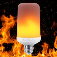 LED Flicker Effect Fire Flame Light Bulb E27 Simulated 3 Mode Mood Lamp