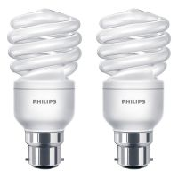 2 Pack Philips 15w B22 Energy Saver Light Bulb 15W = 68W Light Output