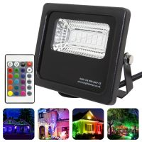 10w IP66 LED RGB Floodlight Outdoor Colour Changing Remote Control 10-A