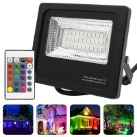 20w IP66 LED RGB Floodlight Outdoor Colour Changing Remote Control 20-A