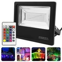 50w IP66 LED RGB Floodlight Outdoor Colour Changing Remote Control 50-A