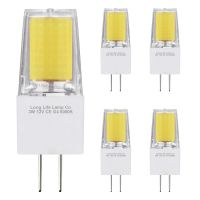 5 x G4 12v LED Bulbs Cool White 3w Replacement for 30w Halogen Capsule Light 2pin AC/DC