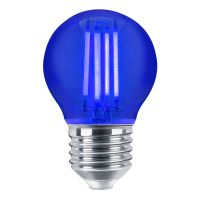 Ambient Fireglow 4w LED Golf Ball Blue Light Bulb E27 Clear Glass