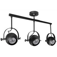3 Way Ceiling Spot Light Adjustable Eyeball GU10 Black Metal Finish M0075-F