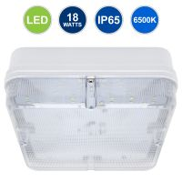 18w Square LED Ceiling Flush Mount Light IP65 6500k Bright Daylight 0841S-F