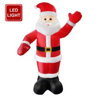 Outdoor Santa Claus Self Inflating with Plug 6 feet Father Christmas LED Illuminated