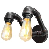 Twin Vintage Industrial Pipe Wall Light M0191P