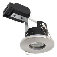 240v Brushed Nickel Bathroom  Fire Rated Downlight IP65 GU10