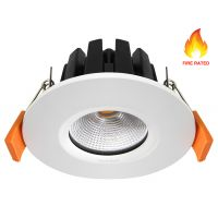 6w Modern LED Recessed Fire Rated Ceiling Down Light IP65 Warm White 3000k