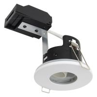 240v White Bathroom Shower Fire Rated Downlight IP65 GU10