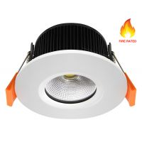 6w Modern LED Recessed Fire Rated Ceiling Down Light IP65 Cool White 6000k
