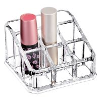 Cosmetic Clear Make Up Organiser Acrylic 9 Sections for Lipstick Lip gloss Nail Polish M8203