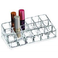Cosmetic Clear Make Up Organiser Acrylic 18 Sections for Lipstick Lip gloss Nail Polish M8118