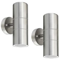 2 X Modern Outdoor Stainless Steel Double Wall Light ZLC03