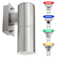 4w Coloured Single LED Wall Down Light Blue, Red, Green, Yellow
