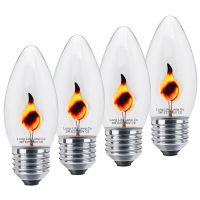4 x 3w Flicker Flame Candle Light Bulb E27