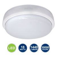 18w LED Bulkhead Ceiling Light Mounted Round Dome Cool White