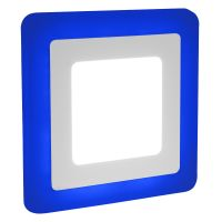 6w + 3w Square LED Ceiling Recessed Panel Light Dual Colour White/Blue