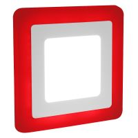 6w + 3w Square LED Ceiling Light Recessed Panel Dual Colour Cool White/Red