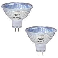2 X MR16 7W 12V Fibre Optic Christmas Tree Halogen Bulb Low Voltage