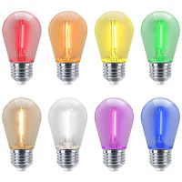 10 Pack 1w LED Coloured Lights Bulbs Edison Screw E27 Vintage Filament Decorative Festoon Lamps
