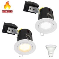 7w White LED Dimmable Fire Rated Downlight