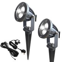 LED Garden Spike Kit 12v 3w Easy Install Cool White