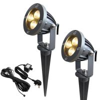 LED Garden Spike Kit 12v 3w Easy Install Warm White