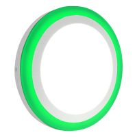 18w LED Ceiling Light Cool White with Green Ambient Ring Surface Mount