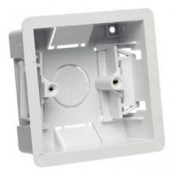 Dry Lining Pattress Back Box Single 1 Gang 35mm White Wall Flush Mount Pattress Socket box